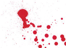 Splat Drips. Splats, drips and drops of watercolour paint, scanned at 600dpi Royalty Free Stock Images