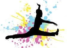 Splat jump Stock Image