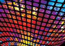 Splat mesh. Abstract rainbow ink splat background with wave mesh Stock Images