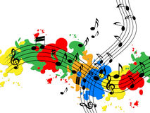 Splat Paint Represents Musical Note And Audio Royalty Free Stock Photo