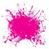 Splat rosado del grunge Foto de archivo libre de regalías