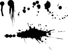 Splat set. This is a set of different drips from a brush Royalty Free Stock Photography
