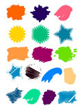 Splat Set Royalty Free Stock Photo