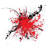 Splat two tone. Ink splat two color tone ideal background or icon Stock Photos
