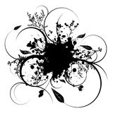 Splat vine. Illustrated ink splat with room to add your own text Stock Photography