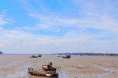 Splatać rybie łodzie i Fotografia Royalty Free