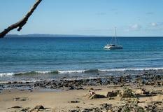 Splatający plażą fotografia stock
