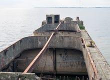 Splatający betonowy statek Obrazy Royalty Free