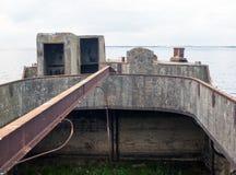 Splatający betonowy statek Obrazy Stock