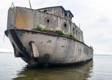 Splatający betonowy statek Obraz Royalty Free