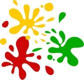 splats цвета Стоковые Фото