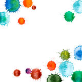 Splats abstractos coloridos de la pintura de la tinta del vector Fotografía de archivo