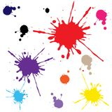 Splats against white Royalty Free Stock Images