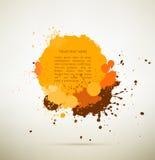 Splats amarillos de la tinta Fotos de archivo libres de regalías