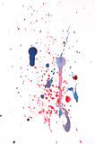 Splats colorés Photos libres de droits