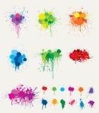 Splats coloridos Imagens de Stock