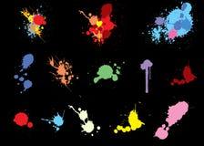 Splats coloridos Fotos de archivo libres de regalías