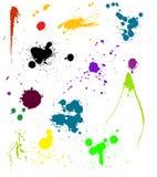 Splats coloridos do vetor Fotos de Stock