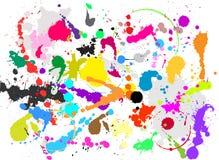 Splats de Grunge ilustração do vetor