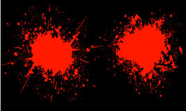 Splats de sang Images libres de droits