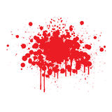 Splats do sangue Imagem de Stock