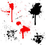 Splats en druppels vector illustratie