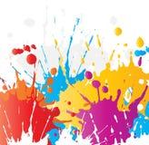 Splats grunges de peinture Photo libre de droits