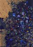 Splats Multi-coloured dell'inchiostro Immagini Stock