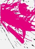 Splats rosados de Grunge Imágenes de archivo libres de regalías