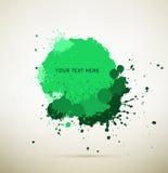 Splats verdes da tinta Imagens de Stock