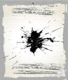 Splats y marco de Grunge Fotos de archivo libres de regalías