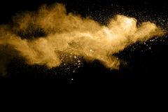 Splatted abstrakt orange pulver Arkivbilder