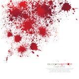 Splatter крови изолированный на белой предпосылке, дизайне Иллюстрация штока