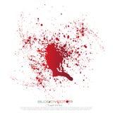 Splatter крови изолированный на белой предпосылке, Бесплатная Иллюстрация