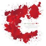 Splatter крови изолированный на белой предпосылке, Иллюстрация штока