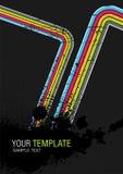 splatter abstrakcjonistyczny szablon Zdjęcia Stock