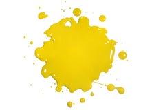 Splatter amarelo da pintura fotos de stock
