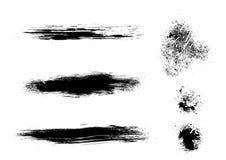 Splatter atramentu grunge elementy Zdjęcia Stock