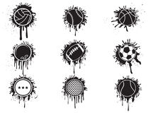 Splatter balls icon Stock Image