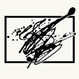 Splatter Black Ink Background in frame. Stock Photography