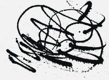 Splatter Black Ink Background. Hand Drawn Spray Blots Royalty Free Stock Image