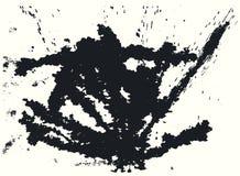 Splatter Black Ink Background. Royalty Free Stock Photo