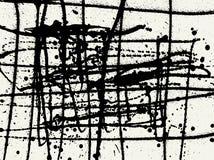 Splatter Black Ink Construction Background. Royalty Free Stock Photo