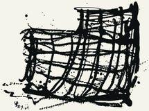 Splatter Black Ink Construction Background. Stock Image