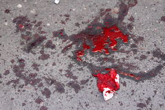 Splatter and blood stain Royalty Free Stock Photo