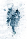 Splatter blu Immagini Stock