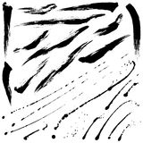 Splatter brushes and Brush Strokes. Brush Strokes vector set 09 stock image