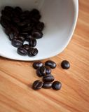 Splatter coffee beans . Royalty Free Stock Photography