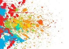 Splatter color background. illustration  background Stock Photography