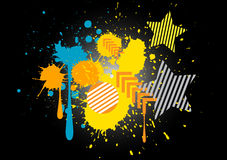 Splatter color grunge graphic vector background Royalty Free Stock Photography